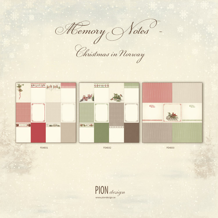 Memory Notes - Christmas in Norway PD4800-11
