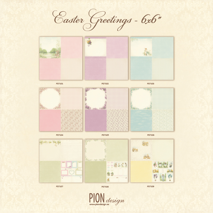 Easter Greetings 6x6 PD7100